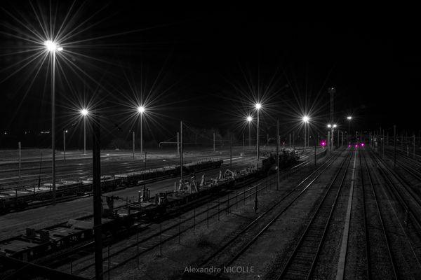 Ambiance nocturne ferroviaire