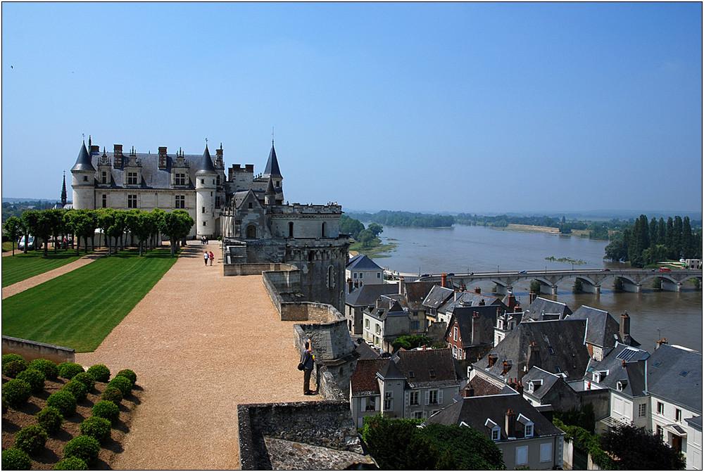 Amboise - Blick auf Schloss und Unterstadt