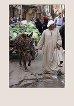 Ambulanter Kohlhändler in Kairo