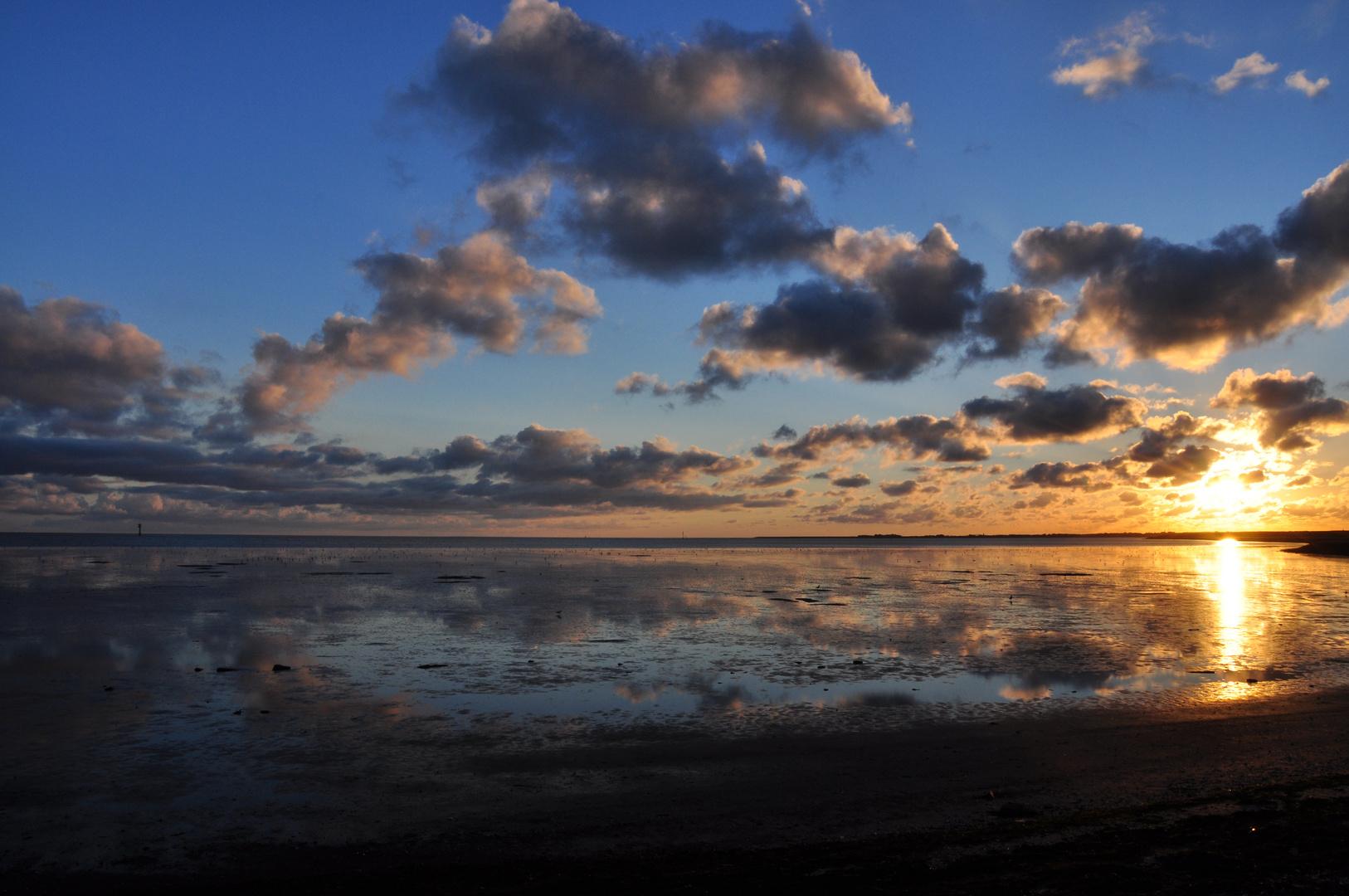 Ameland - Sonnenuntergang am Wattenmeer