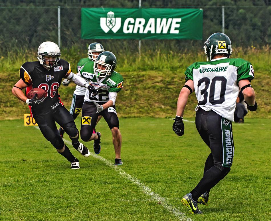American Football - für einen kurzen Sprint im Ballbesitz!