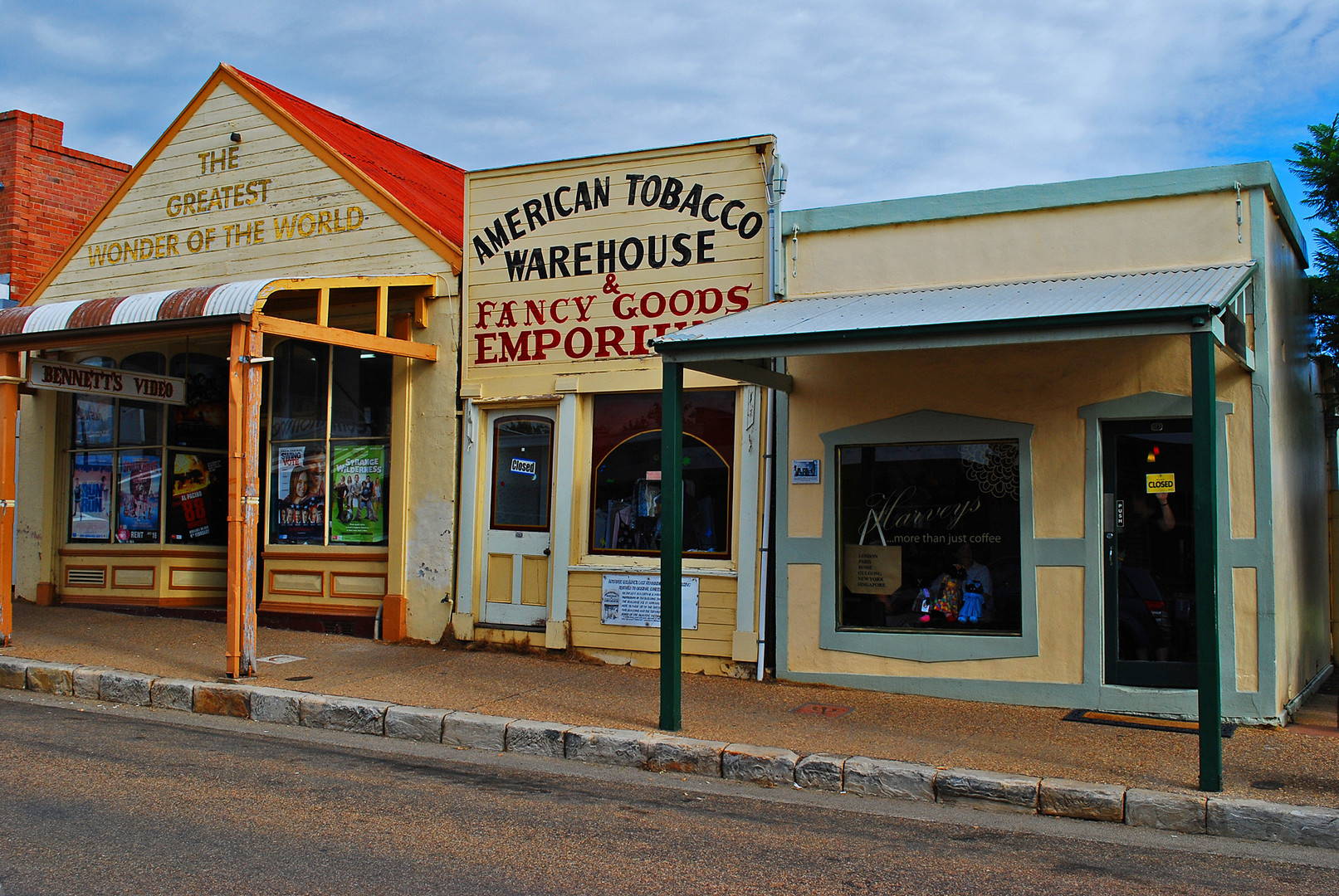 American warehouse in Gulgong City, NSW, Australia