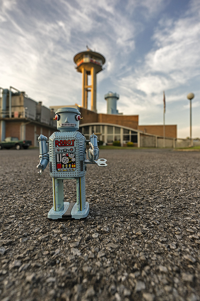 Americana: Blue Robot at Cullman Water Treatment Plant