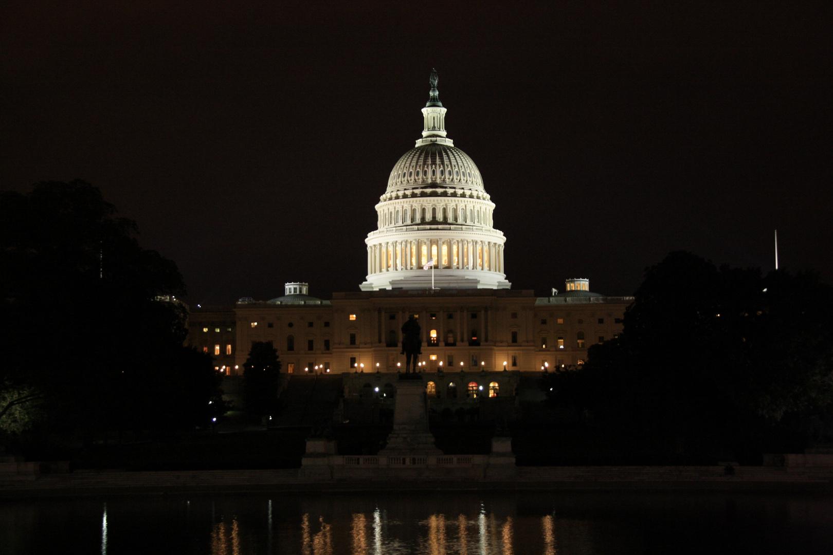 Amerikas Zentrum bei Nacht