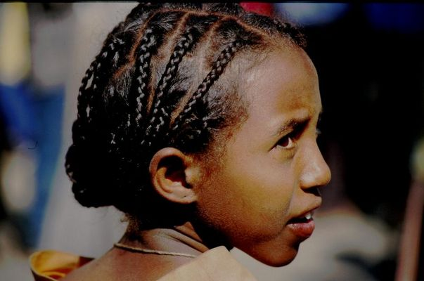 Amharen Mädchen in Äthiopien