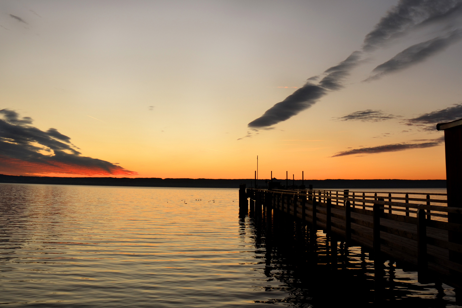 Ammersee-Sonnenuntergang