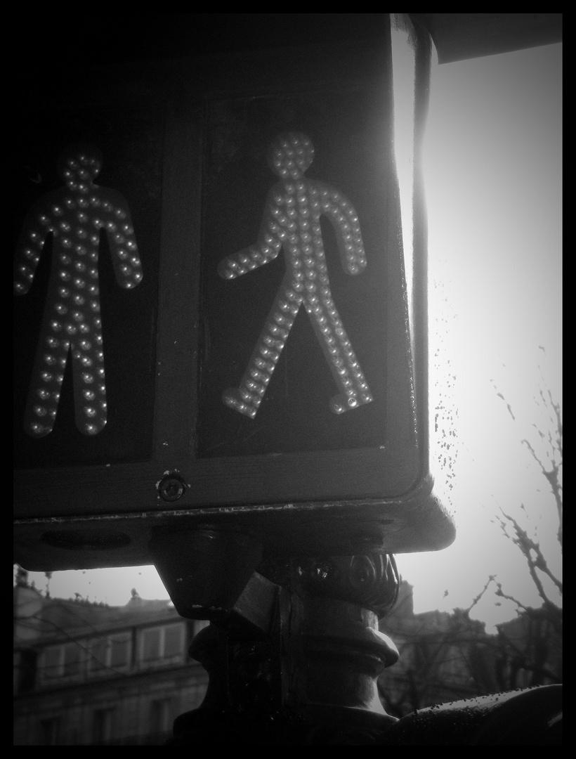 Ampel in Paris
