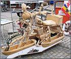 Amphi-Holzmotorrad