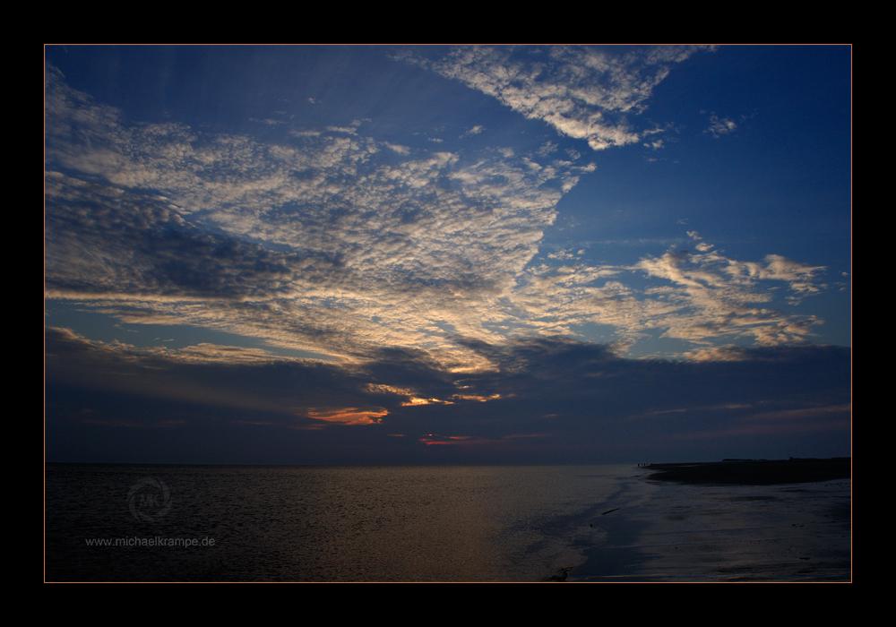 Amrum - Abendhimmel am Nebeler Strand 2