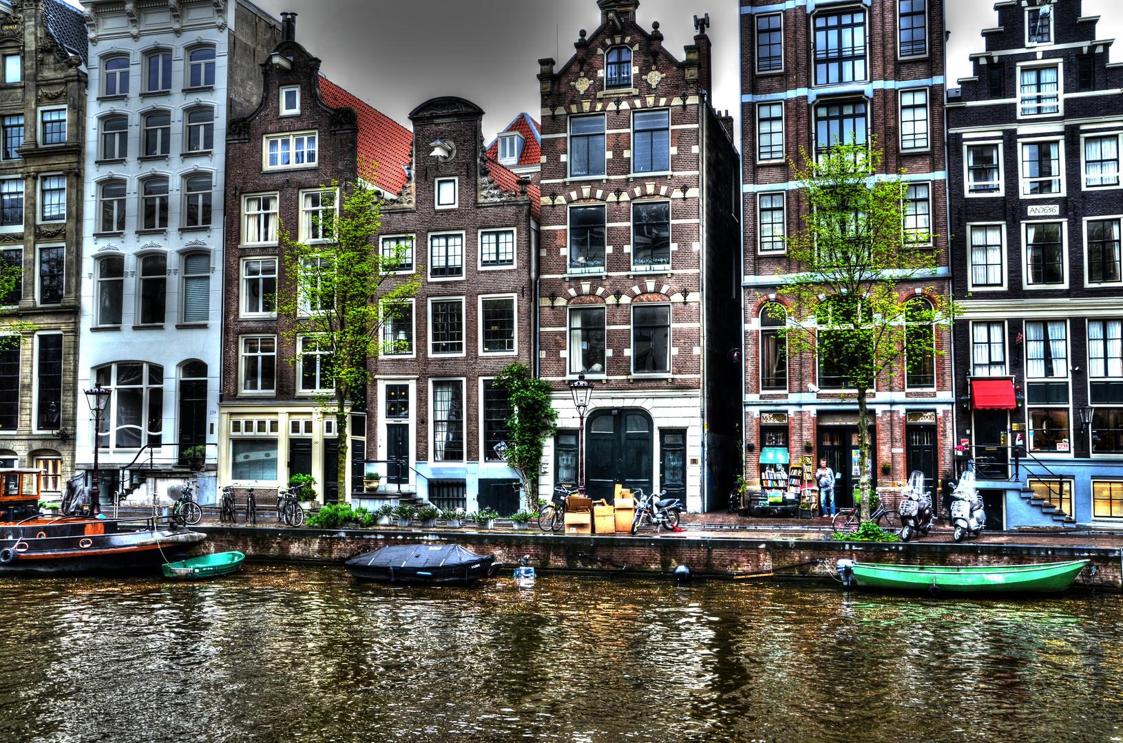 Amsterdam gegen Abend