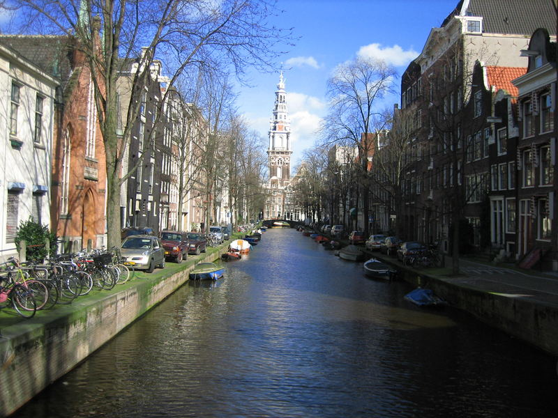 Amsterdam, view on the canal