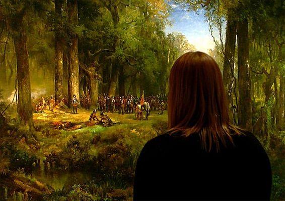 Amy Sees Ponce de Leon, Across the River