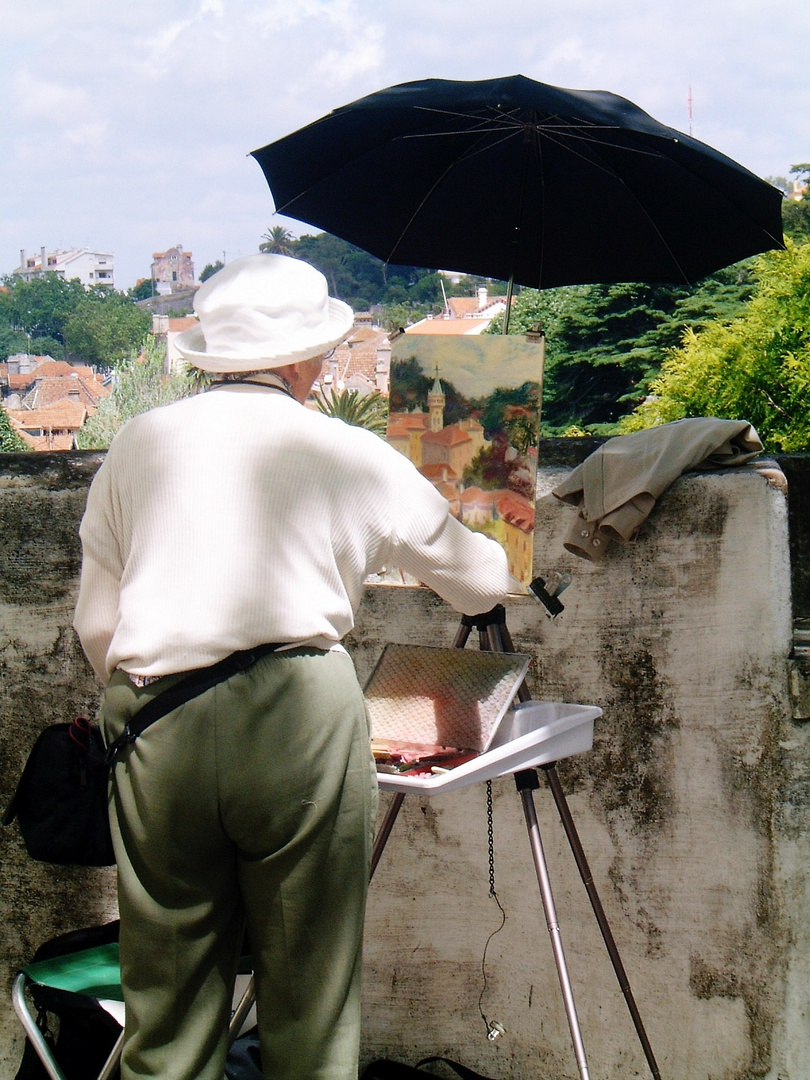 An Artist in Sintra near the Kings Palace