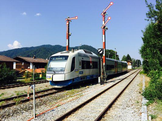 An Bahnhof von Schliersee