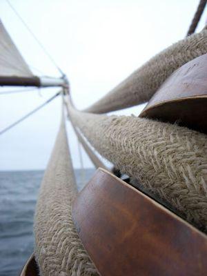 An Bord der Thor Heyerdahl