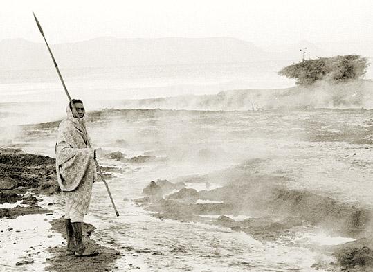 An den heißen Quellen vom Lake Shalla (Äthiopien)