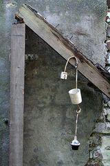 An den Nagel gehangen