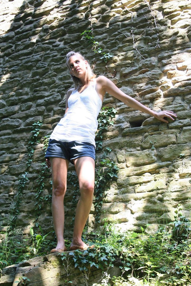 An den Ruinen der Hohensyburg