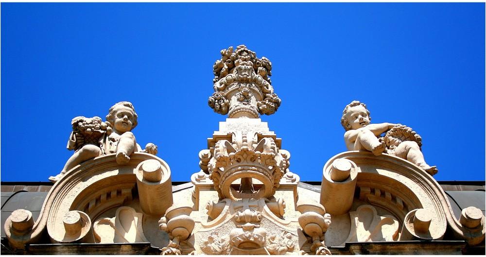 An der Balustrade des Zwingers