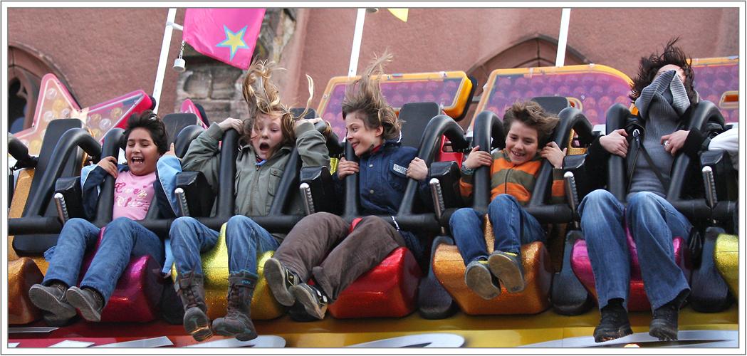 an der Basler Herbstmesse fliegen die Haare... weit... sehr weit ... ;-) !