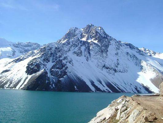 An der Gips Lagune in den Anden