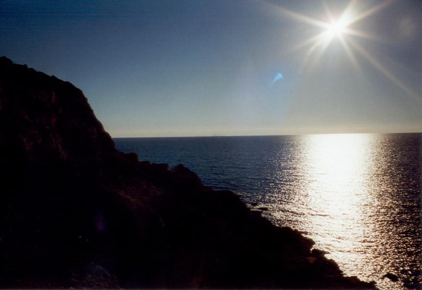 An der Golden Bay Beach auf Malta.
