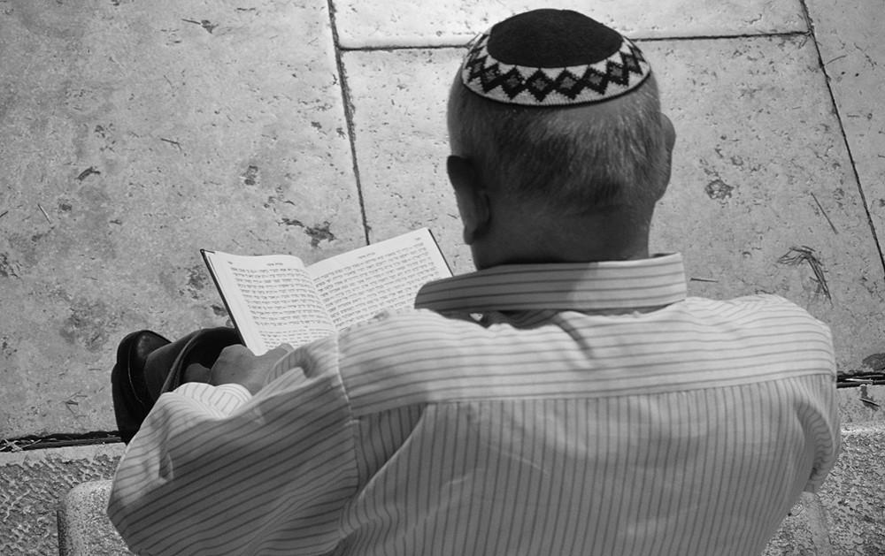 an der Klagemauer in Jerusalem