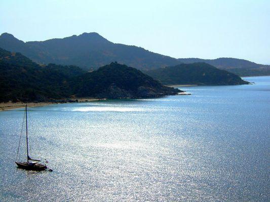 an der Küste von Sardinien
