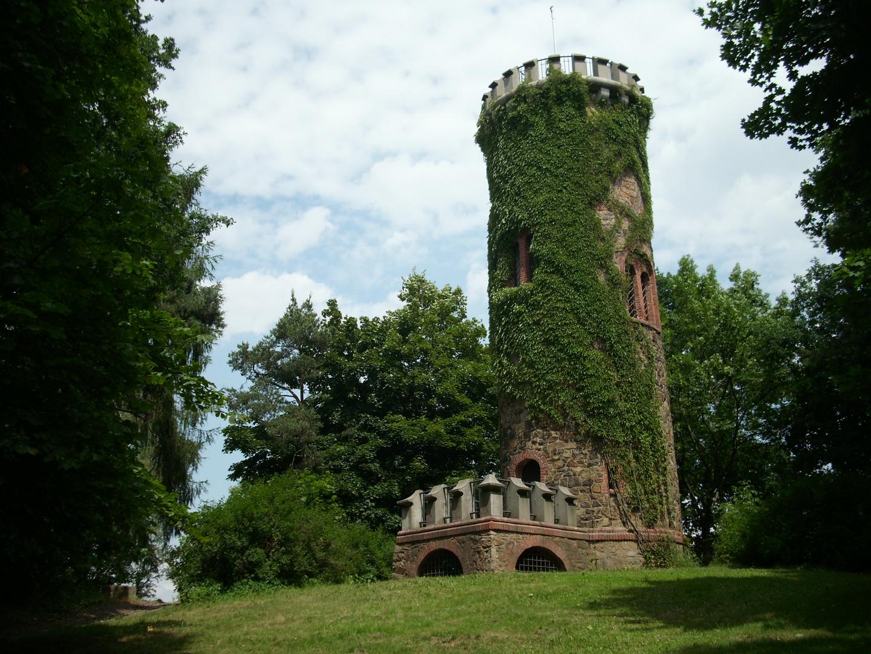 An der Mulde schönem Strande - ein verwunschener Turm in einem Park (Jutta-Park bei Grimma)
