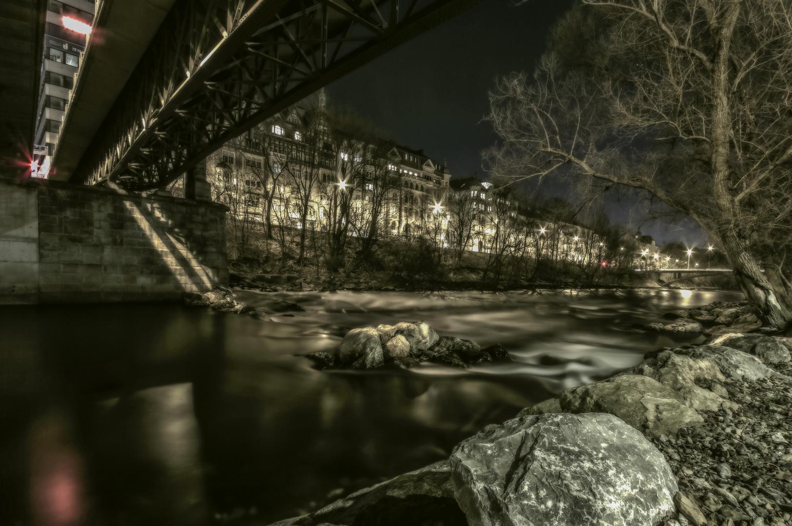 An der Mur...Graz bei Nacht