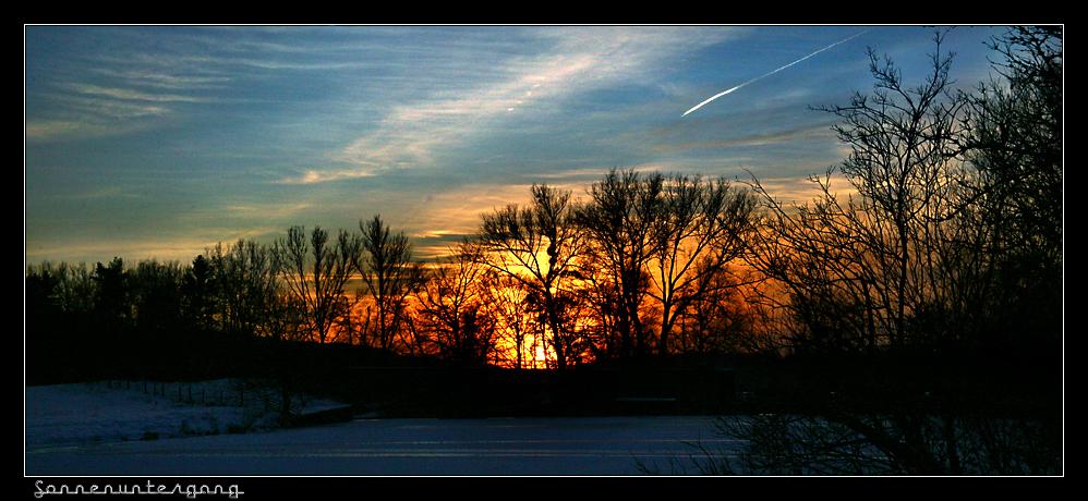 """An der Ruhr """"Sonnen untergang"""""""
