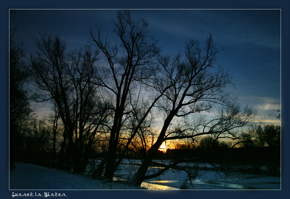 """An der Ruhr """"Sunset in Winter"""""""