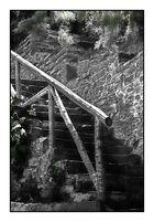 an der Treppe