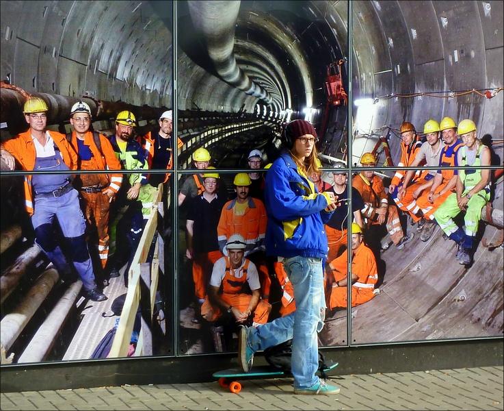 An der U-Bahnbaustelle...