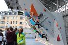 An der Wand der Großen - LUCA beim MAMMUT Boulder Jam - Innsbruck 2014