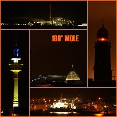 An der Weser bei Nacht