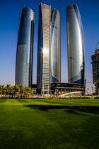 An der West Corniche Road in Abu Dhabi.