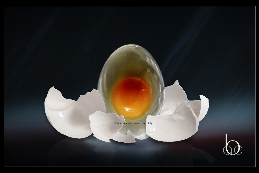 An egg of glass