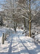 An einem sonnigen Wintertag