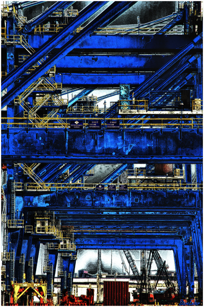 An Electric Blue Gantrified Impression
