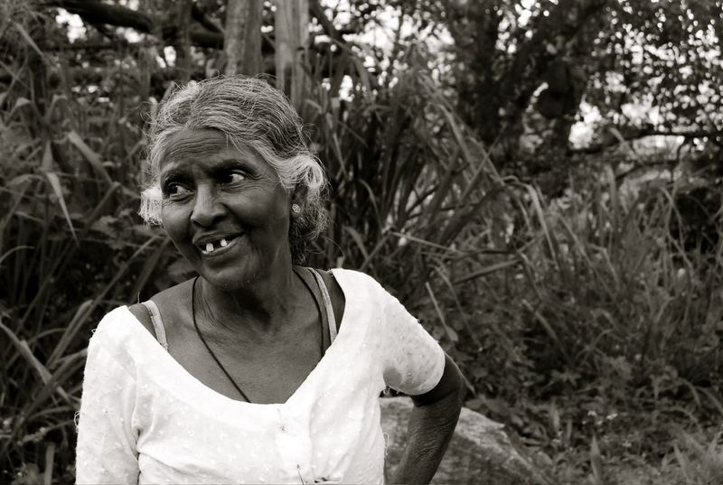 An older villege woman in Sri Lanka