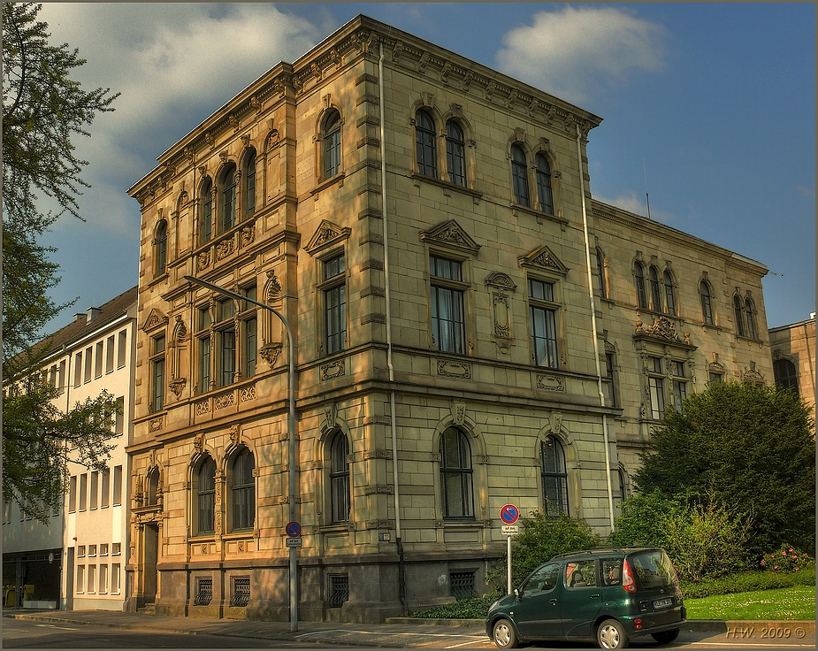 An part of the City hall Krefeld