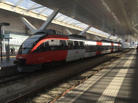 An Salzburger Hauptbahnhof