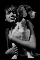 Anastasia mit Hund