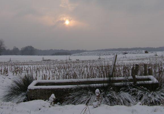 ancien abreuvoir et soleil d'hiver