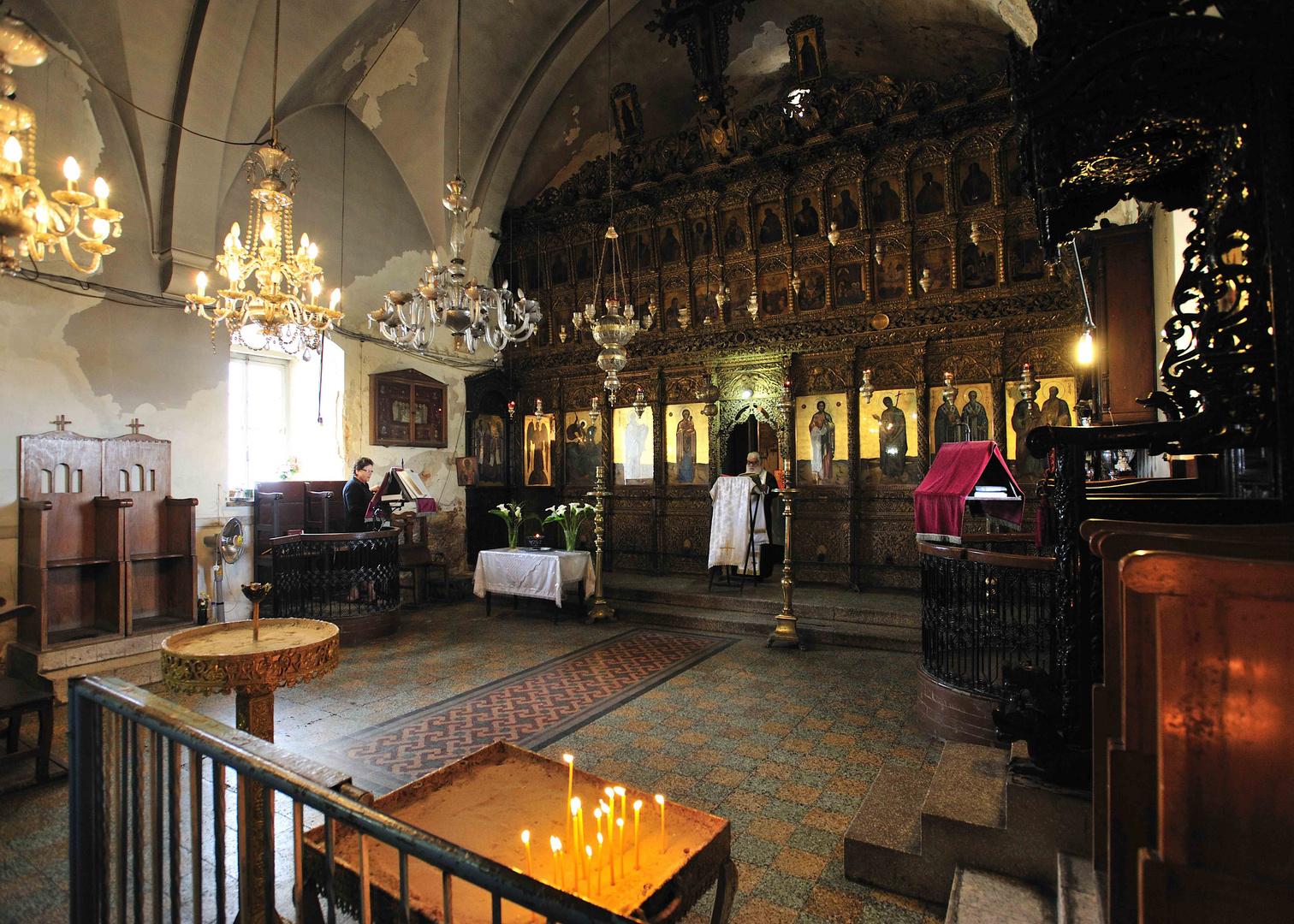 Andacht im St. Andreas Kloster am Ende der Karpaz-Halbinsel