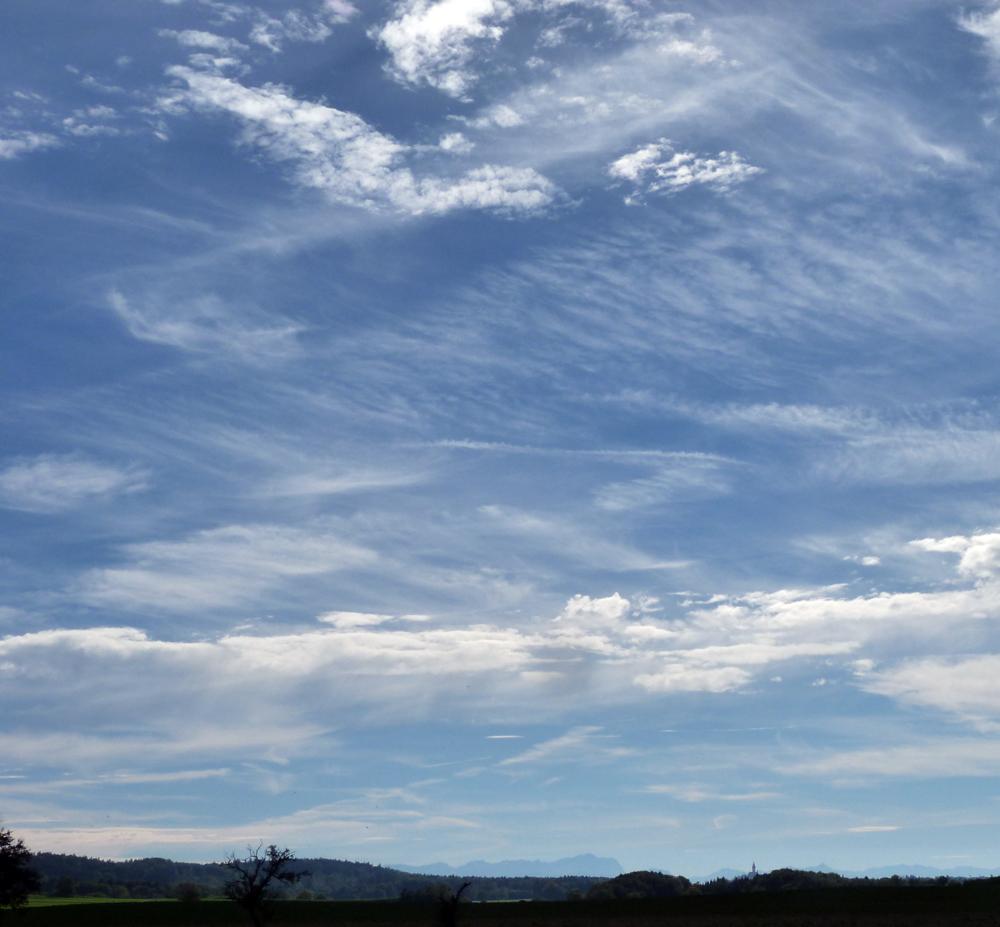 Andechs, Zugspitze, Himmel