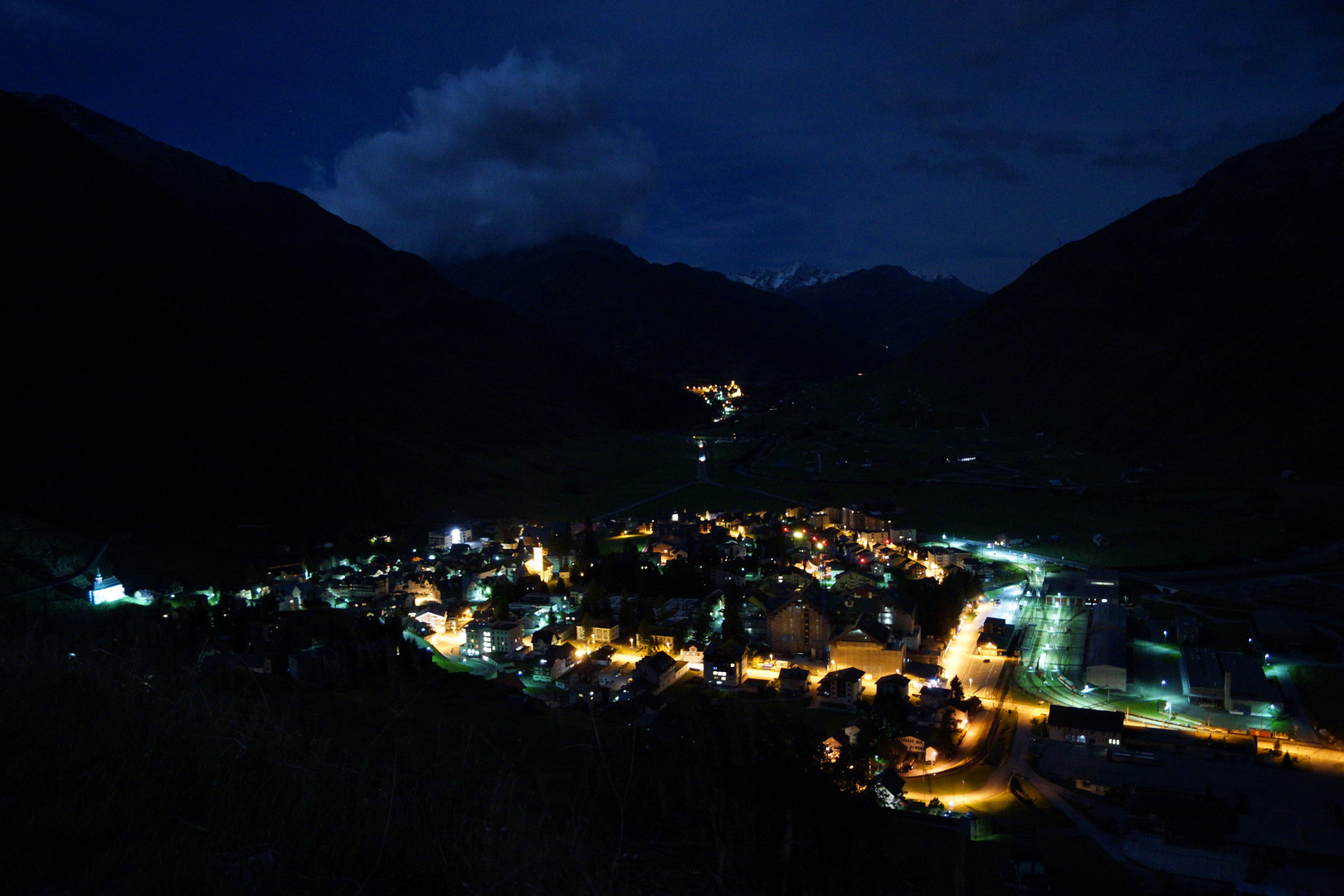 Andermatt by night