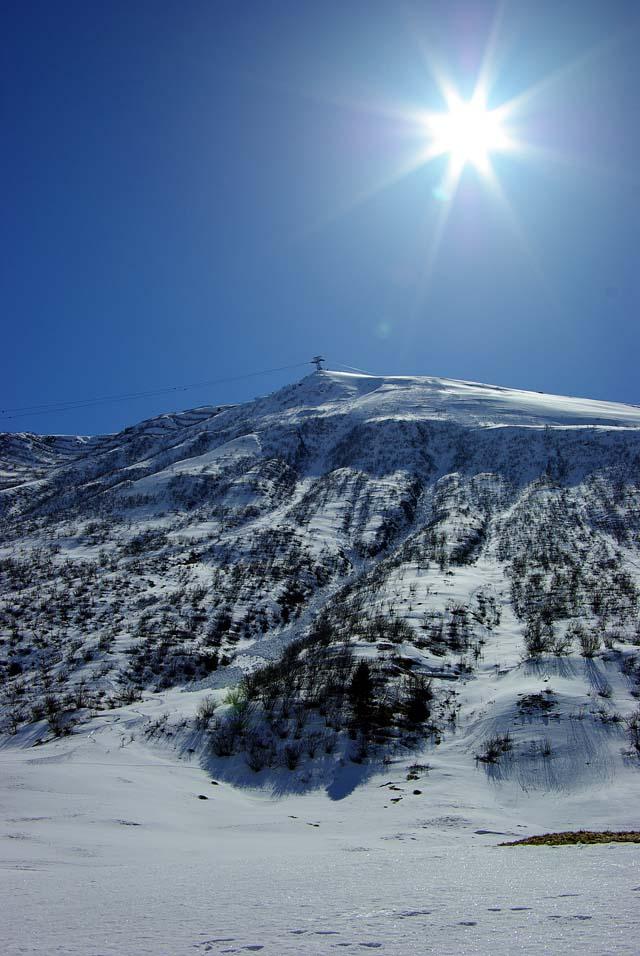 Andermatt mit Wintersonne