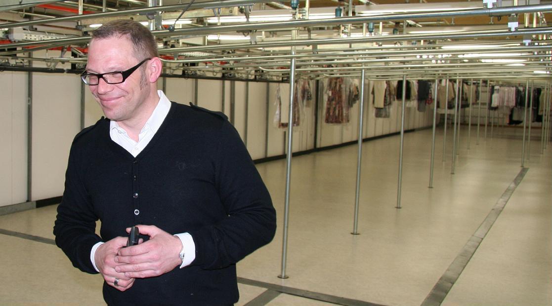 Andreas H. an seinem Arbeitsplatz in Gelsenkirchen-Bismarck